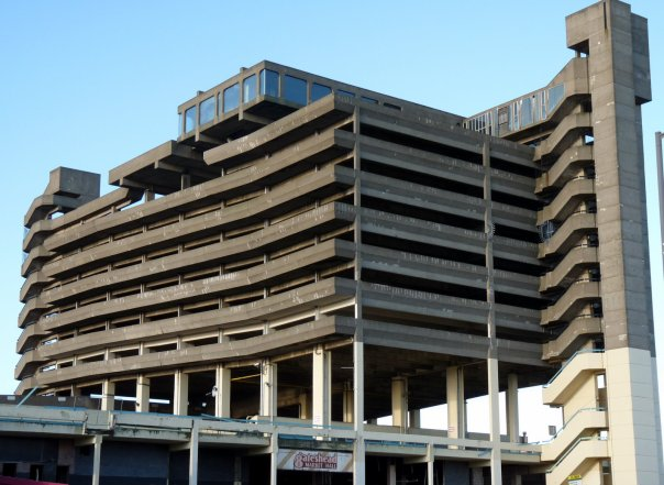 Trinity Square Car Park, Gateshead, now demolished. A good example of Brutalist architecture, and of the Sixties...