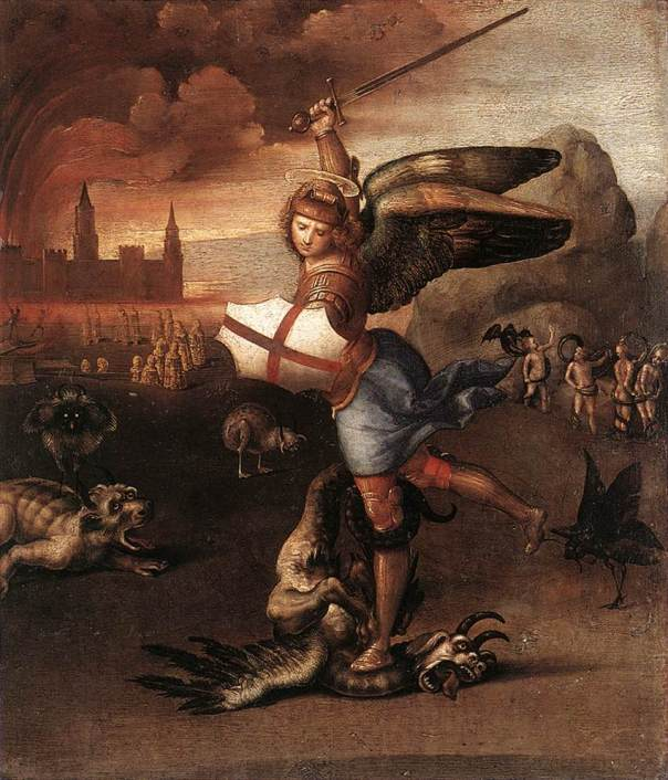 St Michael the Archangel, defend us in battle!