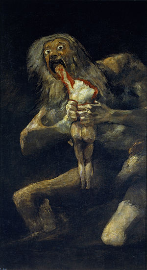 "Goya, ""Saturn devouring his son"""