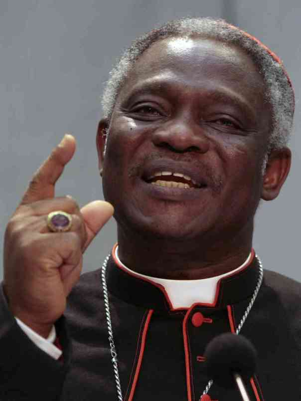 Stranger things happen at sea... Cardinal Turkson.