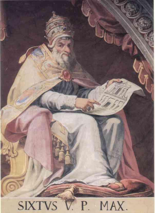 "Pope Sixtus V, ""er papa tosto"""