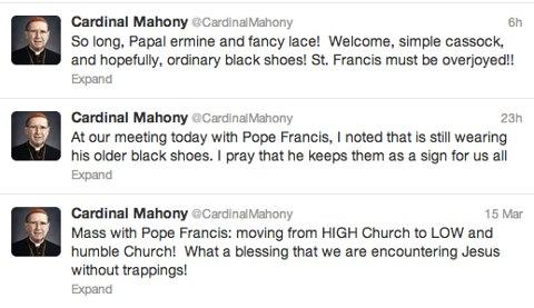 Cardinal Mahony Tweet