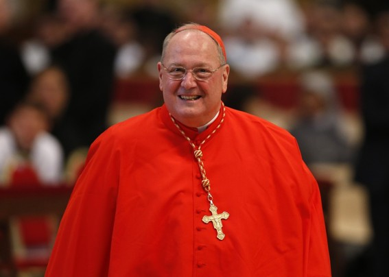 Wrong talking and wrong eating: Cardinal Dolan.