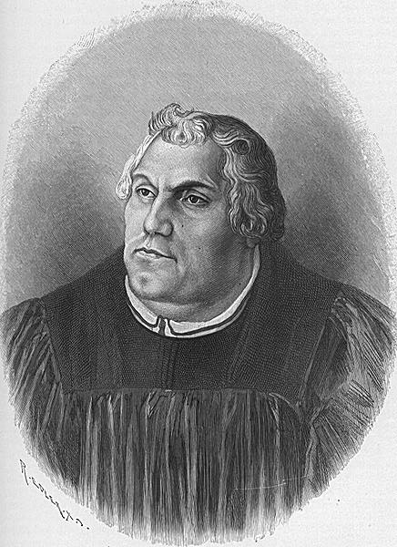 Foul-mouthed heretical nun-bedder: Martin Luther.