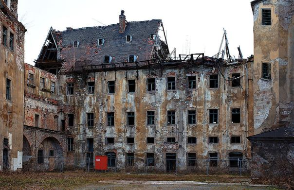 Father Nincompoop, SJ, did not see anything wrong with the state of repair of the seminary of the Jesuits.