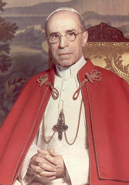 Not very shy also in the writing of encyclical letters: Pope Pius XII, Pastor Angelicus.