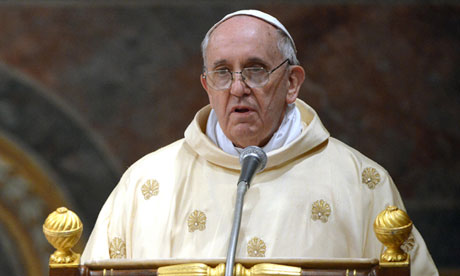 "Here, the Bishop of Rome is seen, shocked, pronouncing the words ""no,no,no!"""