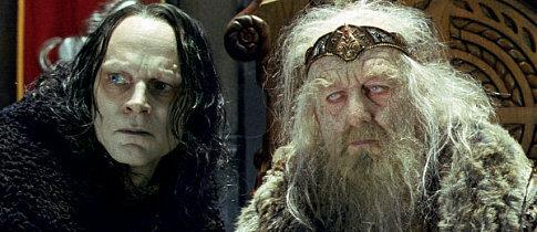 Here, we see Grima Wormtongue explaining to Theoden that he should accept that same-sex marriage is here to stay.