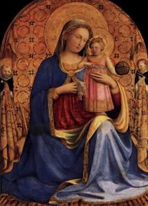 "Beato Angelico, ""Madonna and Child"""