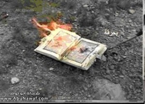 A Koran being disposed of in an environmentally friendly way.