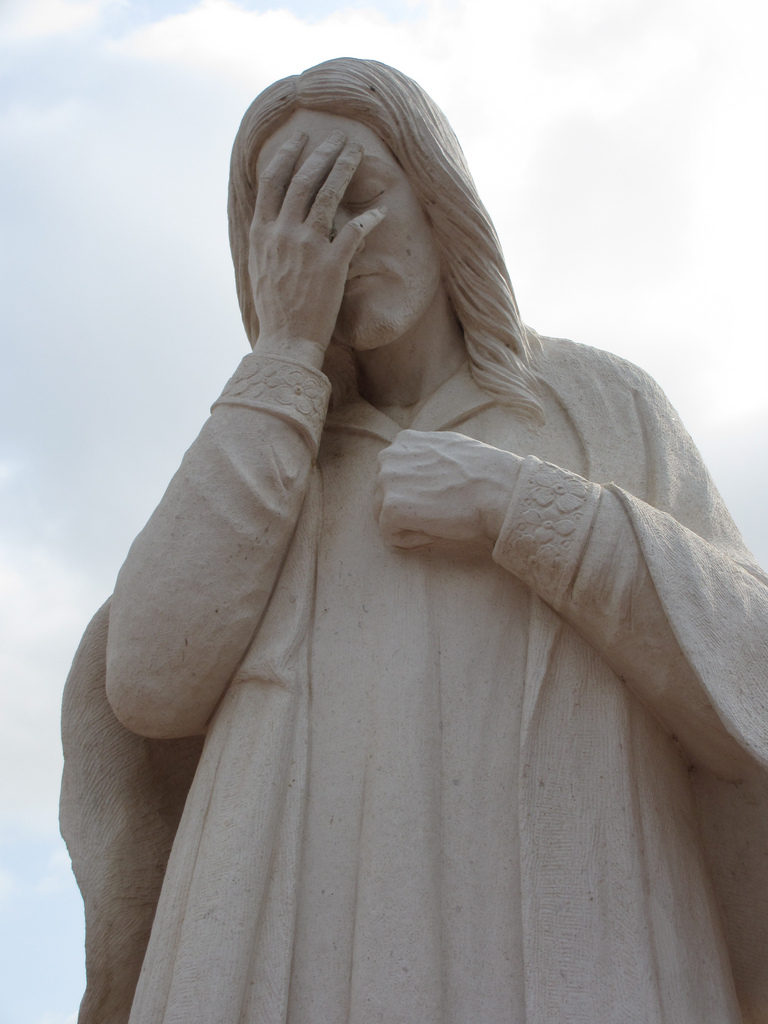List of Synonyms and Antonyms of the Word: jesus facepalm