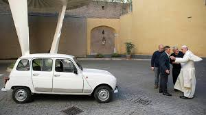 The Pope's personal car was widely believed to be worth  more than his theology.