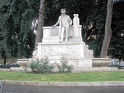 Monument to Giuseppe Gioachino Belli, Viale Trastevere, Rome.