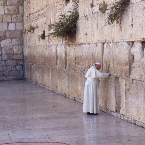 pope francis at wall