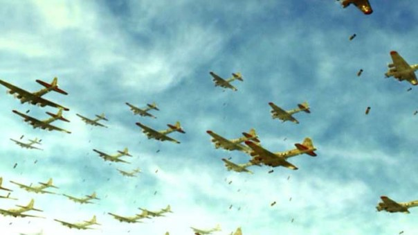 Boeing B-17s on their way. Objective: heresy.
