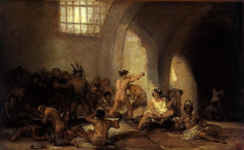 "Francisco Goya, ""The Madhouse"""