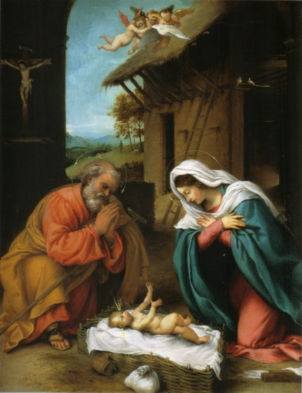 "Lorenzo Lotto, ""Nativity of Christ"""