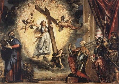 """Titian, """"Doge Antonio Grimani before the Allegory of Faith"""""""